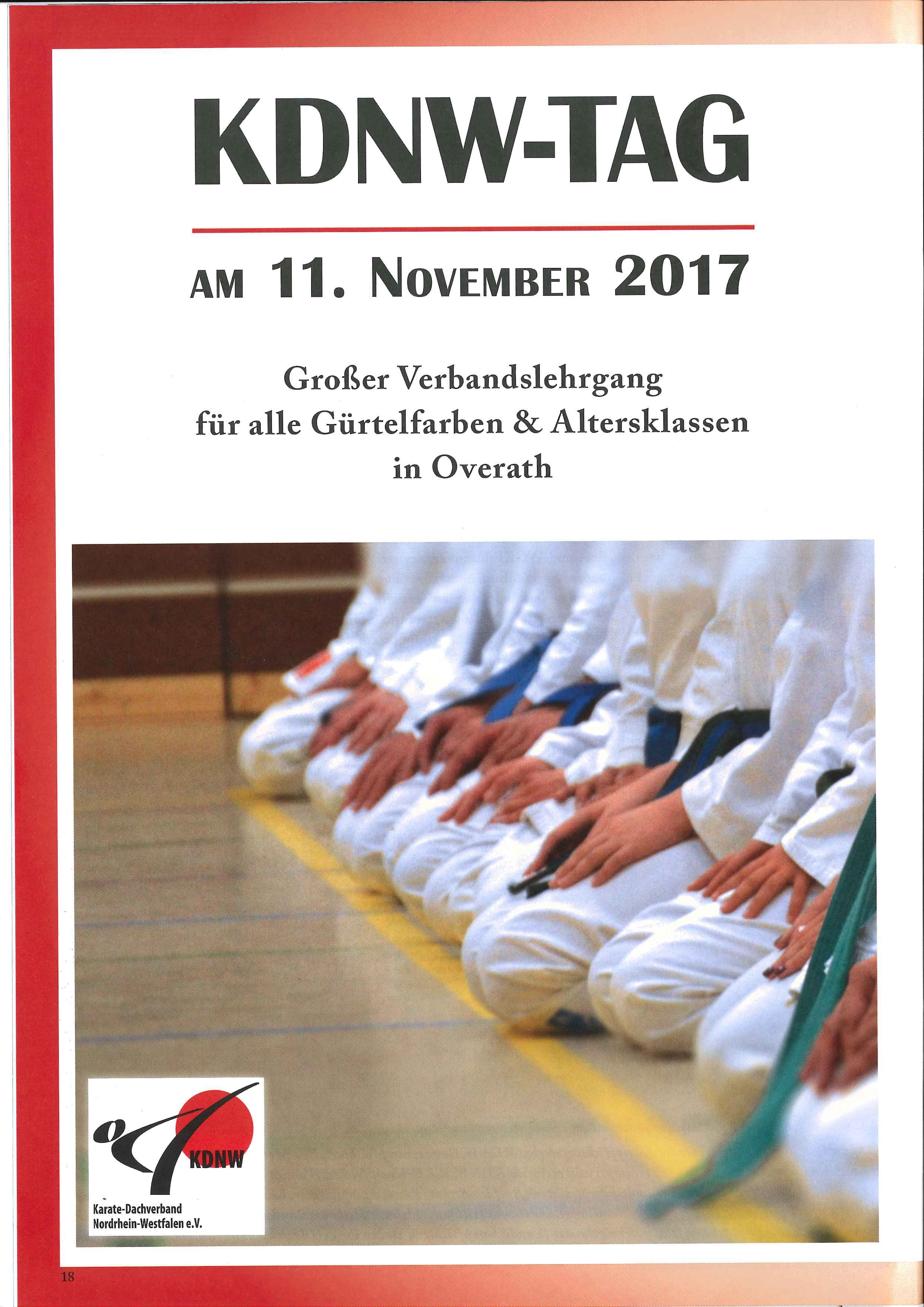2. KDNW-Tag in KDNW Karate Aktuell 3/2017