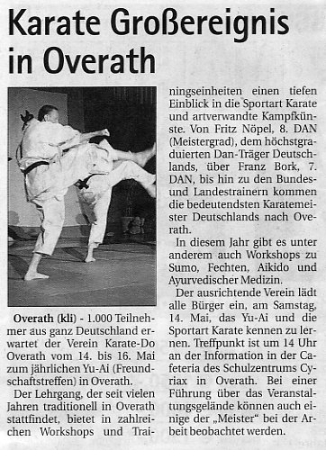 Karate Großereignis in Overath