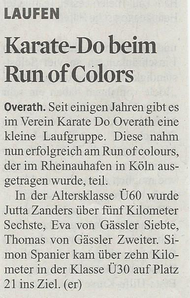 Run of Colours 2016 im KStA